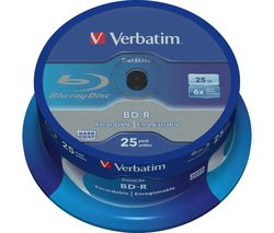 VERBATIM 6x Blank Blu-ray Discs - Pack of 25