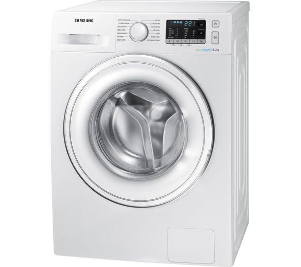 buy samsung ecobubble ww80j5555dw 8 kg 1400 spin washing. Black Bedroom Furniture Sets. Home Design Ideas