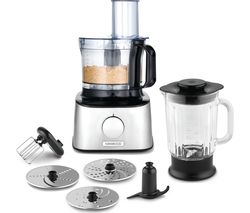 KENWOOD MultiPro Compact FDM300SS Food Processor - Black & Silver