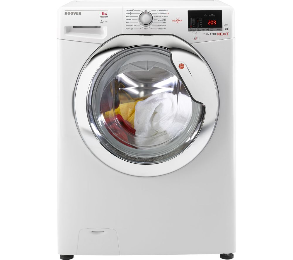 Compare retail prices of Hoover DXOC 68AC3 NFC 8 kg 1600 Spin Washing Machine to get the best deal online