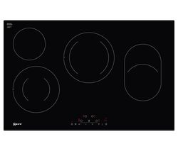 NEFF N70 T18FD36X0 Electric Ceramic Hob - Black Best Price, Cheapest Prices