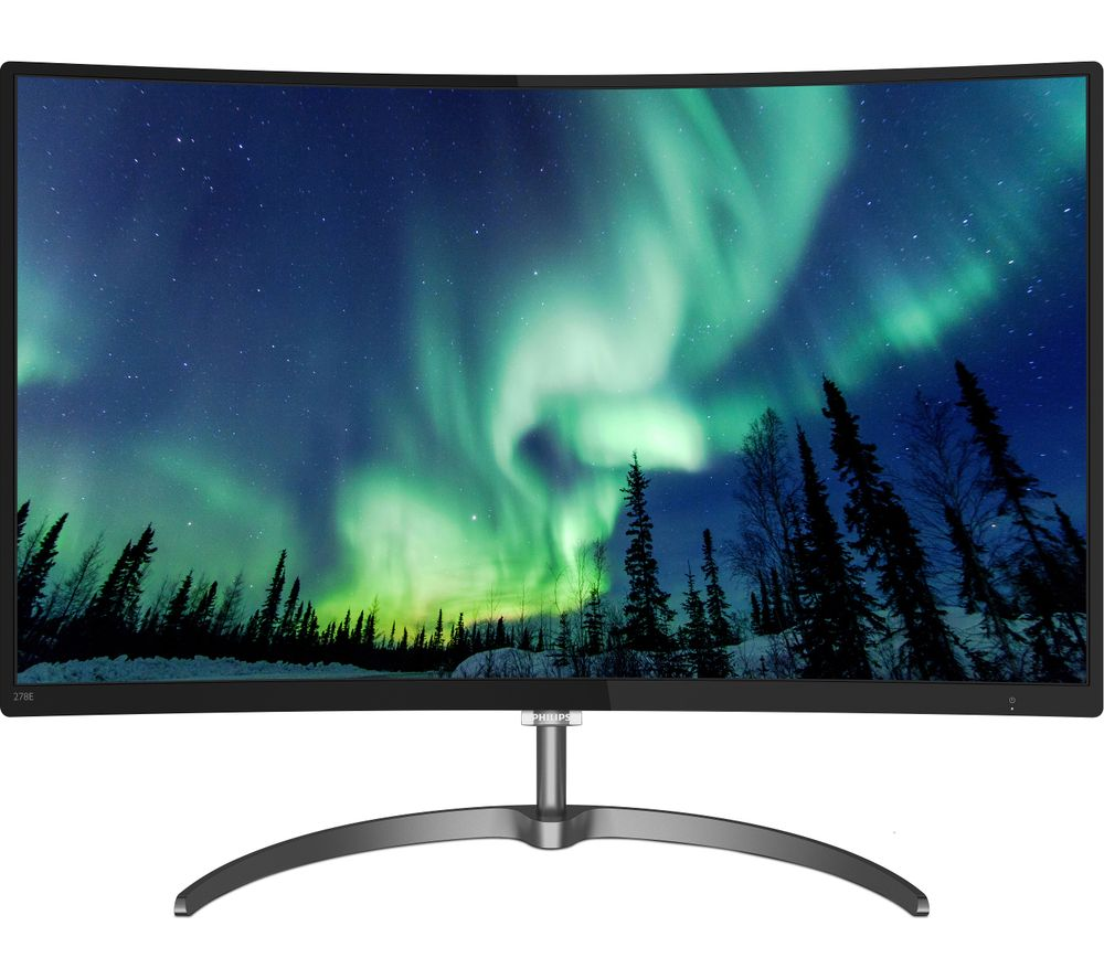 "PHILIPS 278E8QJAB/00 Full HD 27"" Curved LED Monitor - Black"
