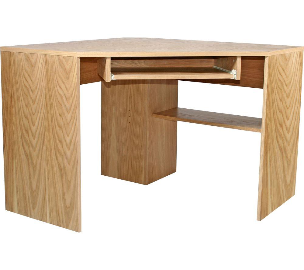 Alphason Oakwood Aw23120 Corner Desk Oak