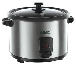 RUSSELL HOBBS 19750 Rice Cooker & Steamer - Stainless Steel & Black