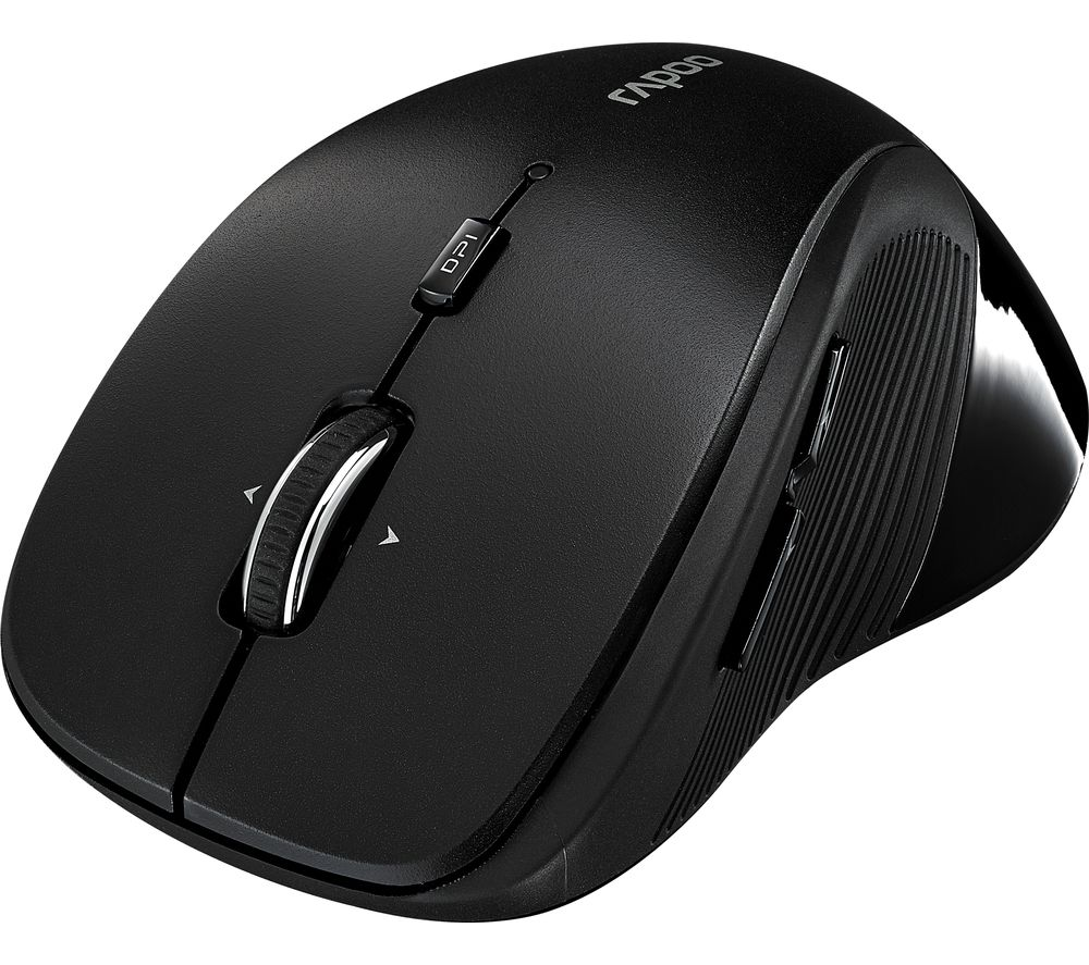 RAPOO 3910 Wireless Optical Mouse - Black, Black