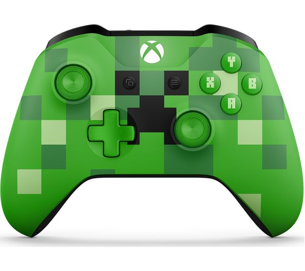 Image of MICROSOFT Xbox Minecraft Creeper Wireless Controller - Green