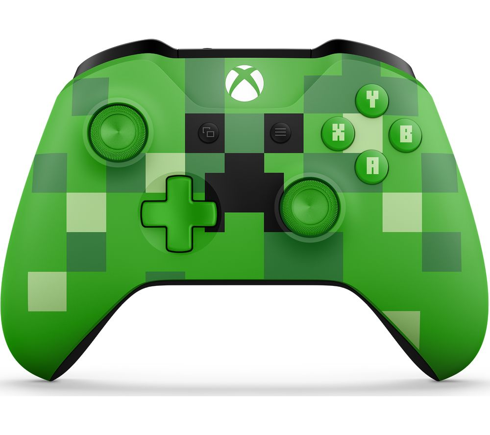 Image of MICROSOFT Xbox Minecraft Creeper Wireless Controller - Green, Green