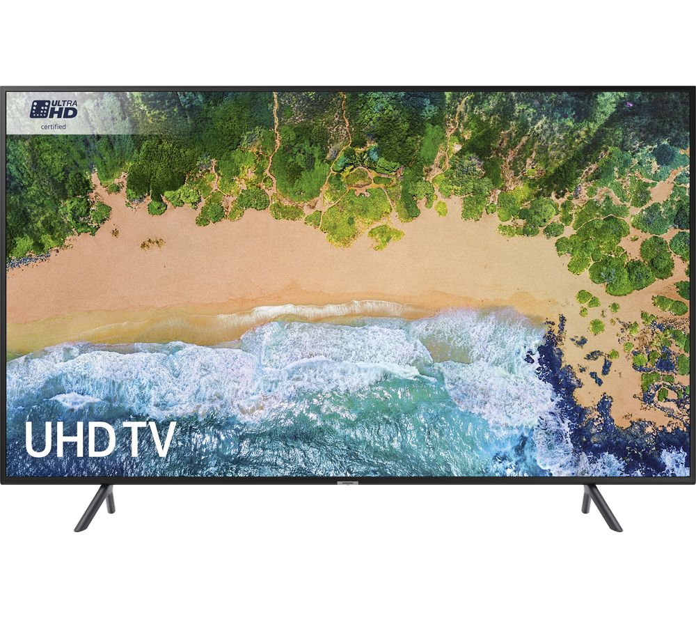 """SAMSUNG UE75NU7100 75"""" Smart 4K Ultra HD HDR LED TV + S1HDM315 HDMI Cable with Ethernet - 1 m"""