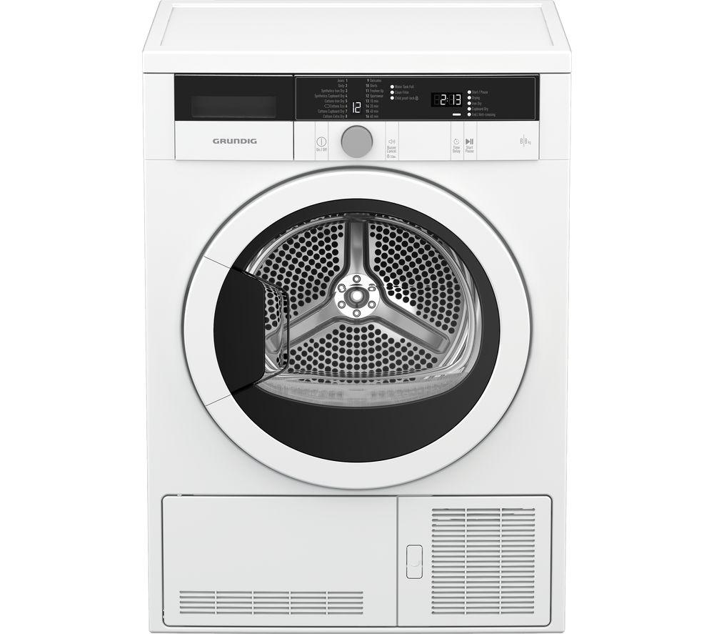 GRUNDIG GTN28110GW 8 kg Condenser Tumble Dryer - White
