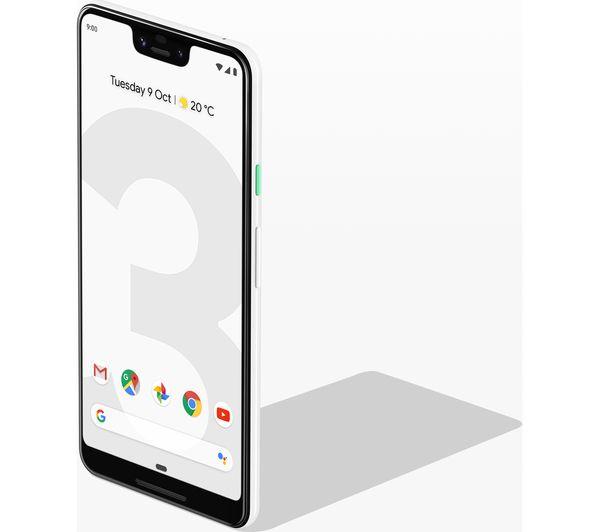 GOOGLE Pixel 3 XL - 64 GB, White