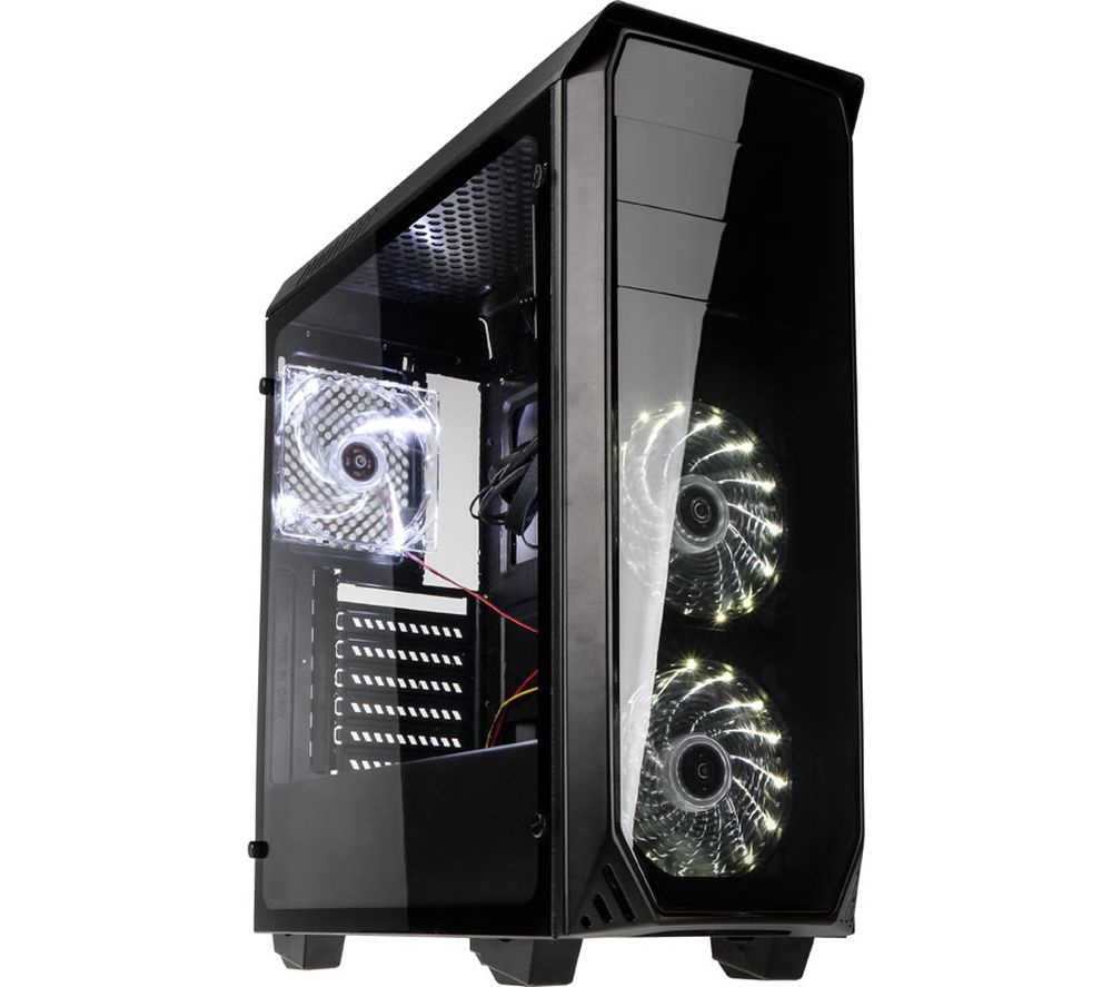 KOLINK Luminosity ATX Mid-Tower PC Case - Black & White