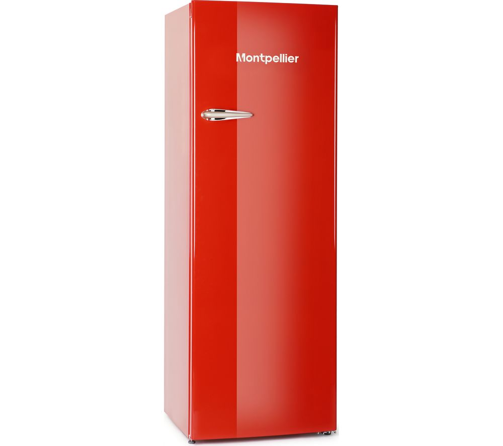 MONTPELLIER MAB340R Tall Fridge – Red, Red
