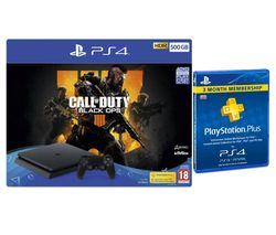 SONY PlayStation 4 500 GB with Call of Duty: Black Ops 4 & PlayStation Plus Subscription Bundle