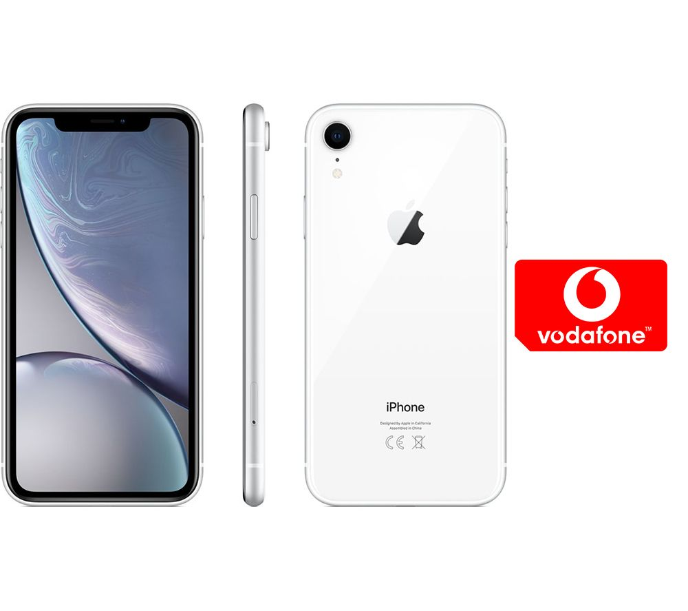 APPLE iPhone XR & Pay As You Go Micro SIM Card Bundle - 128 GB, White, White cheapest retail price