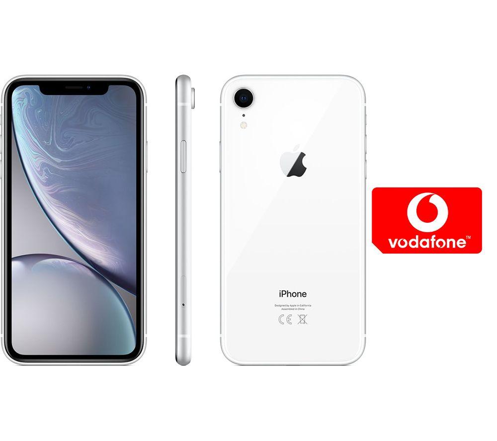 APPLE iPhone XR & Pay As You Go Micro SIM Card Bundle - 128 GB, White
