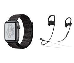 APPLE Watch Series 4 Nike+ - Space Grey & Black Sports Band, 44 mm