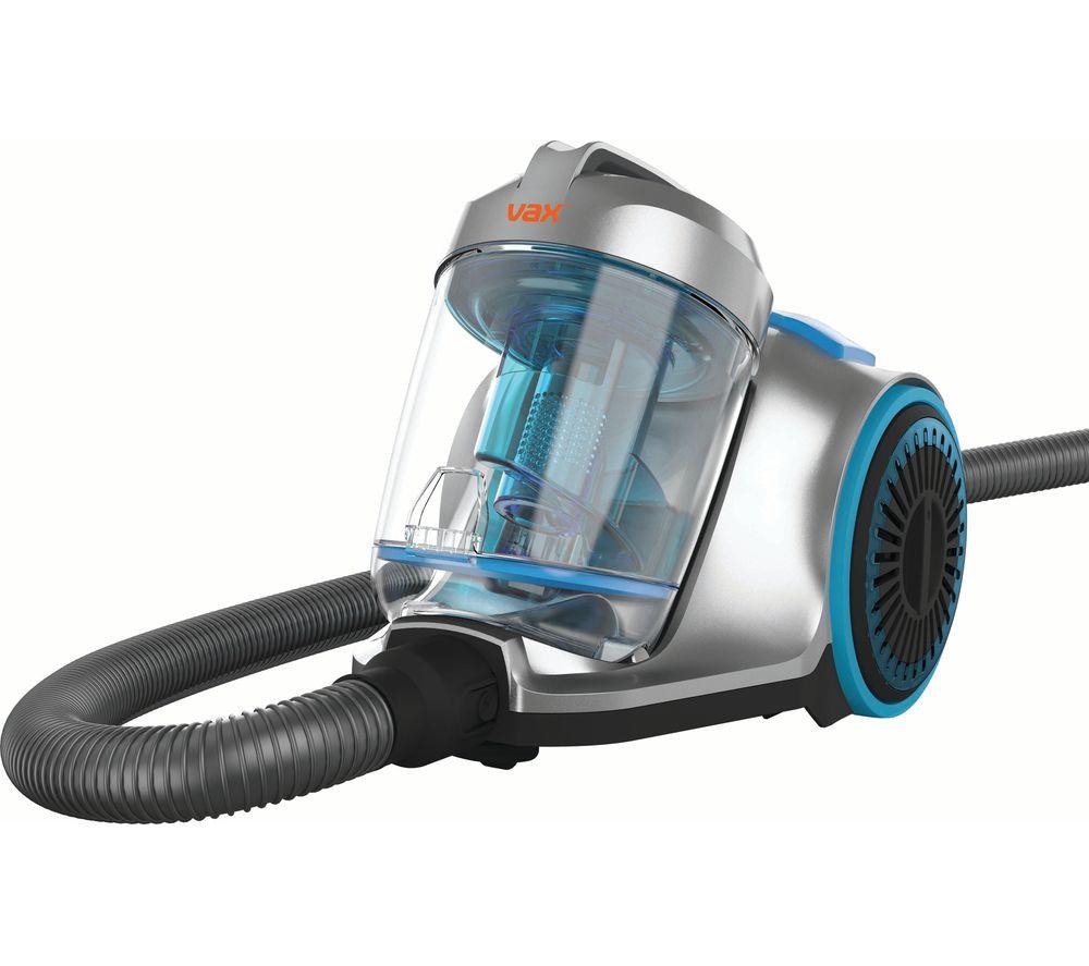 VAX Pick Up Pet CVRAV013 Cylinder Bagless Vacuum Cleaner - Silver & Blue