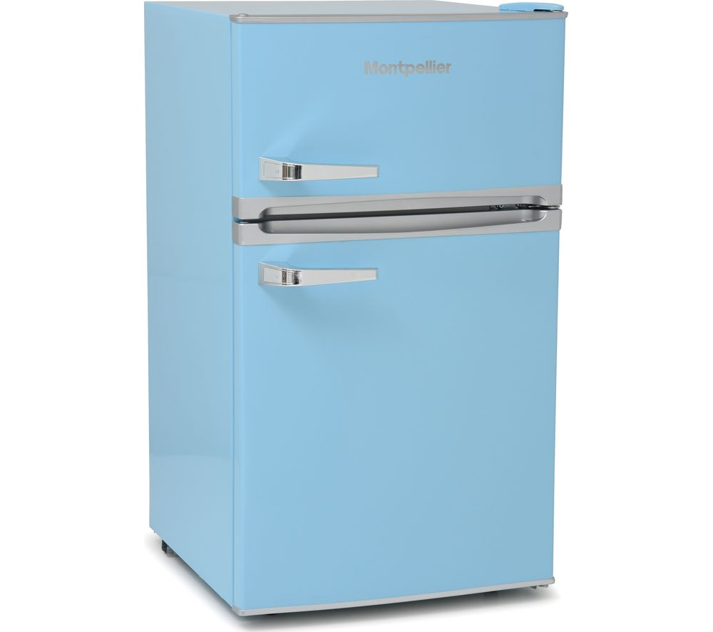 MONTPELLIER Retro MAB2031PB Undercounter Fridge Freezer - Blue