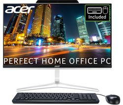 "ACER Aspire Z24-891 23.8"" Intel® Core™ i5 All-in-One PC - 1 TB HDD & 128 GB SSD, Black and Silver"
