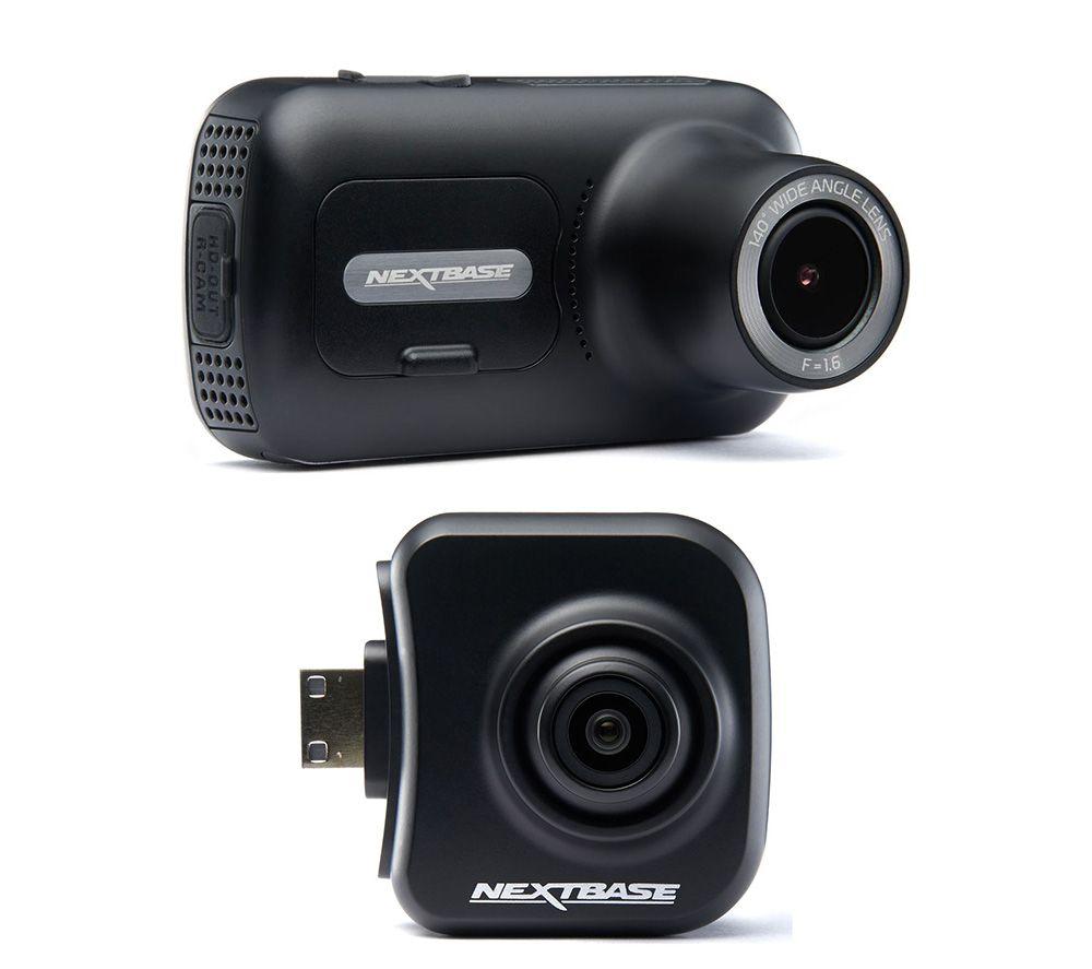 Image of NEXTBASE 322GW Full HD Dash Cam & NBDVRS2RFCZ Full HD Rear View Dash Cam Bundle - Black, Black