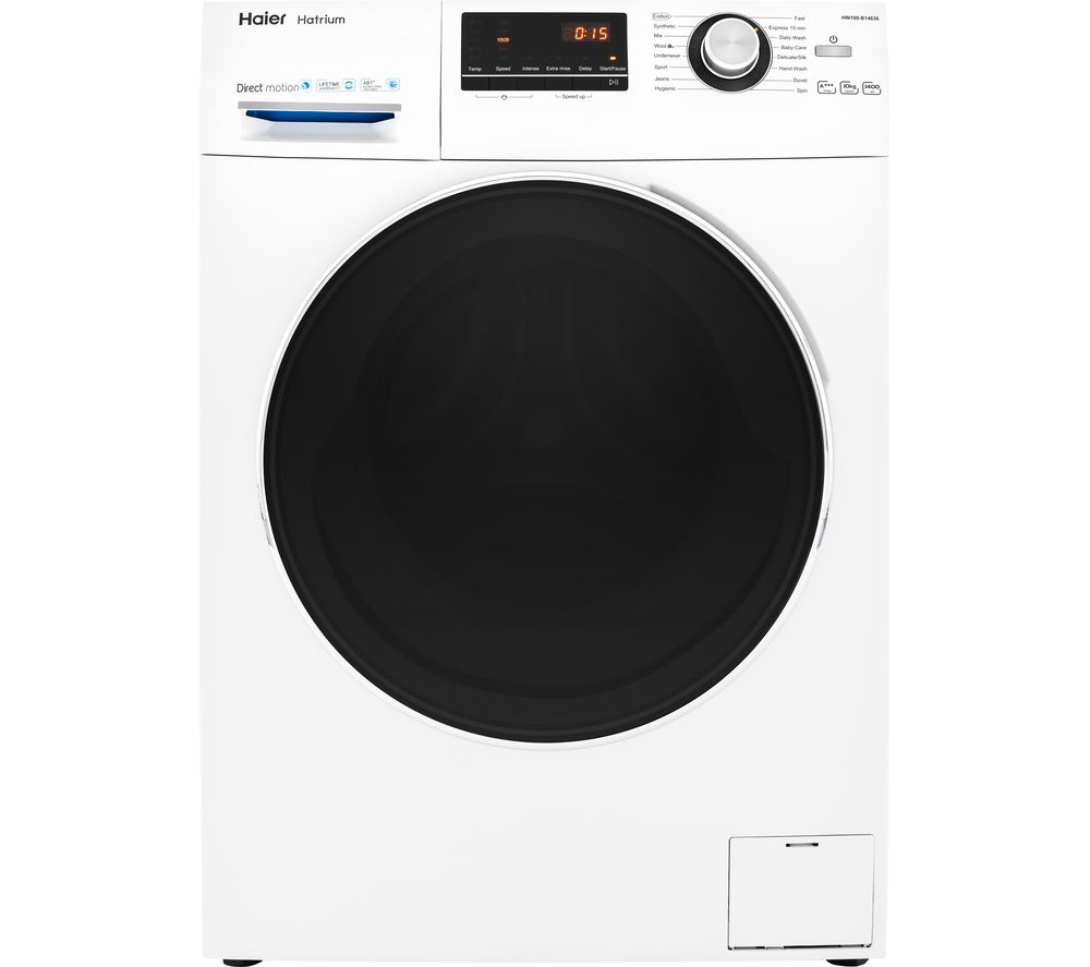 HW100-B14636 10 kg 1400 Spin Washing Machine - White, White