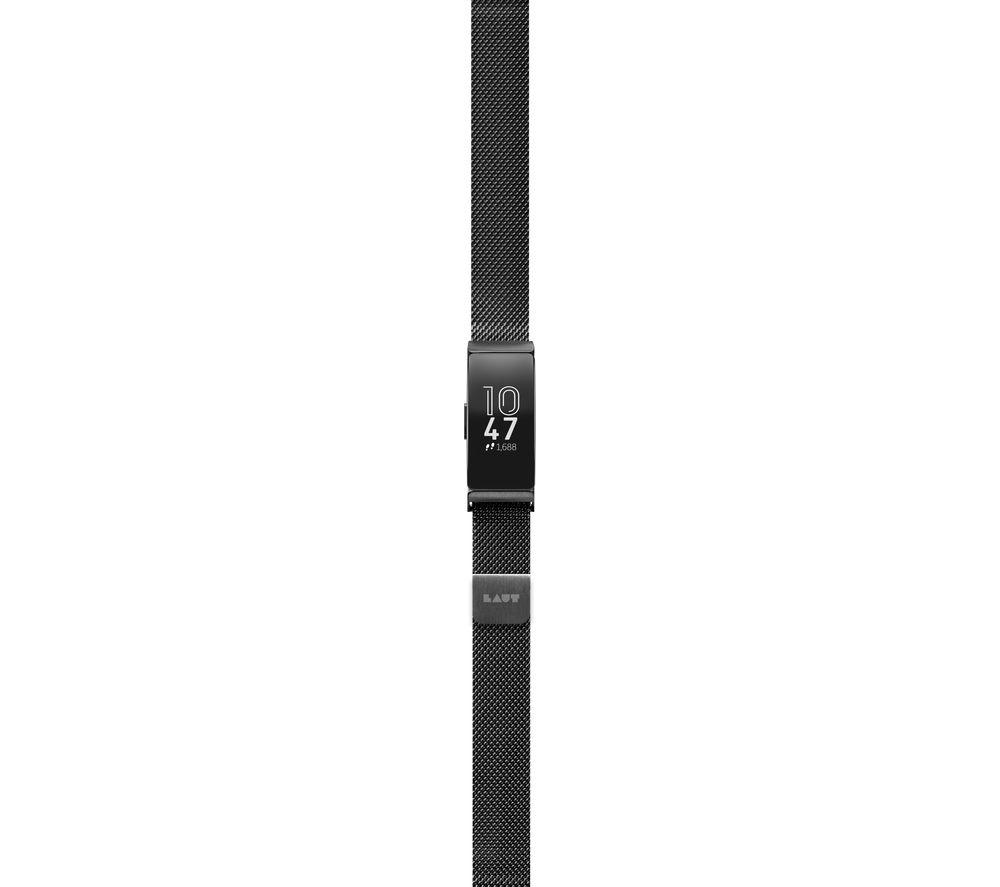 LAUT Fitbit Inspire Steel Loop Strap - Black, Large