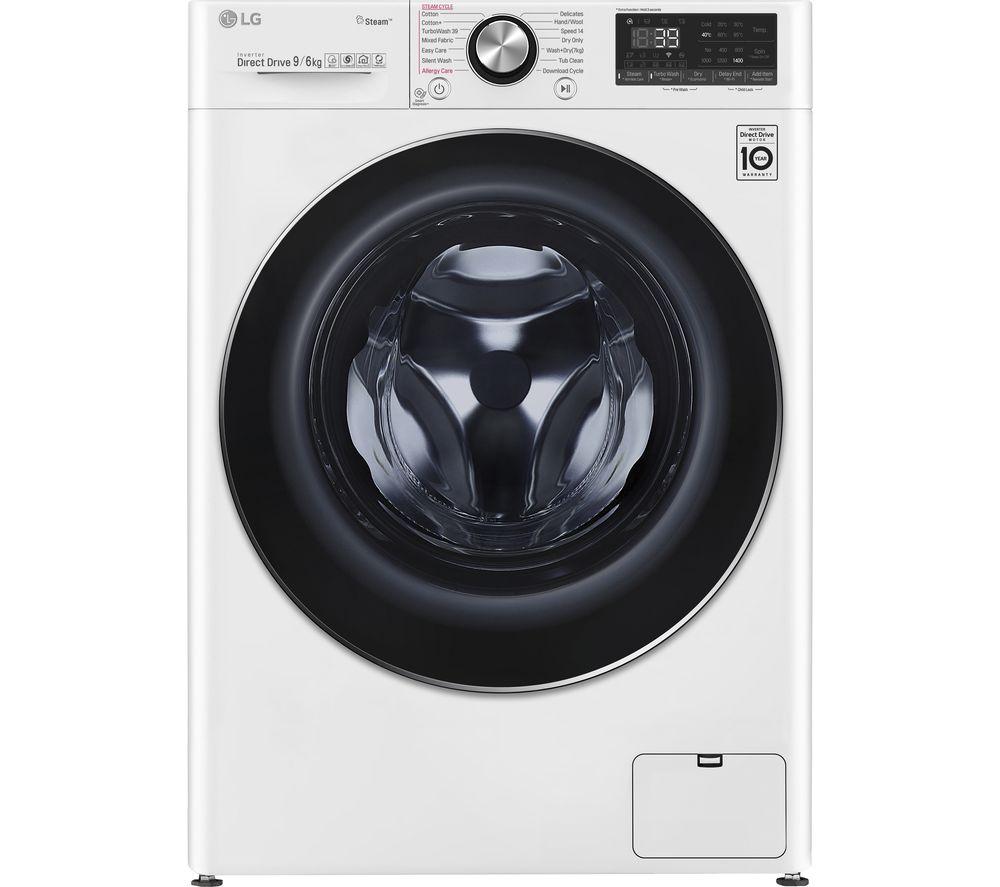 LG V9 FWV996WTS WiFi-enabled 9 kg Washer Dryer - White, White