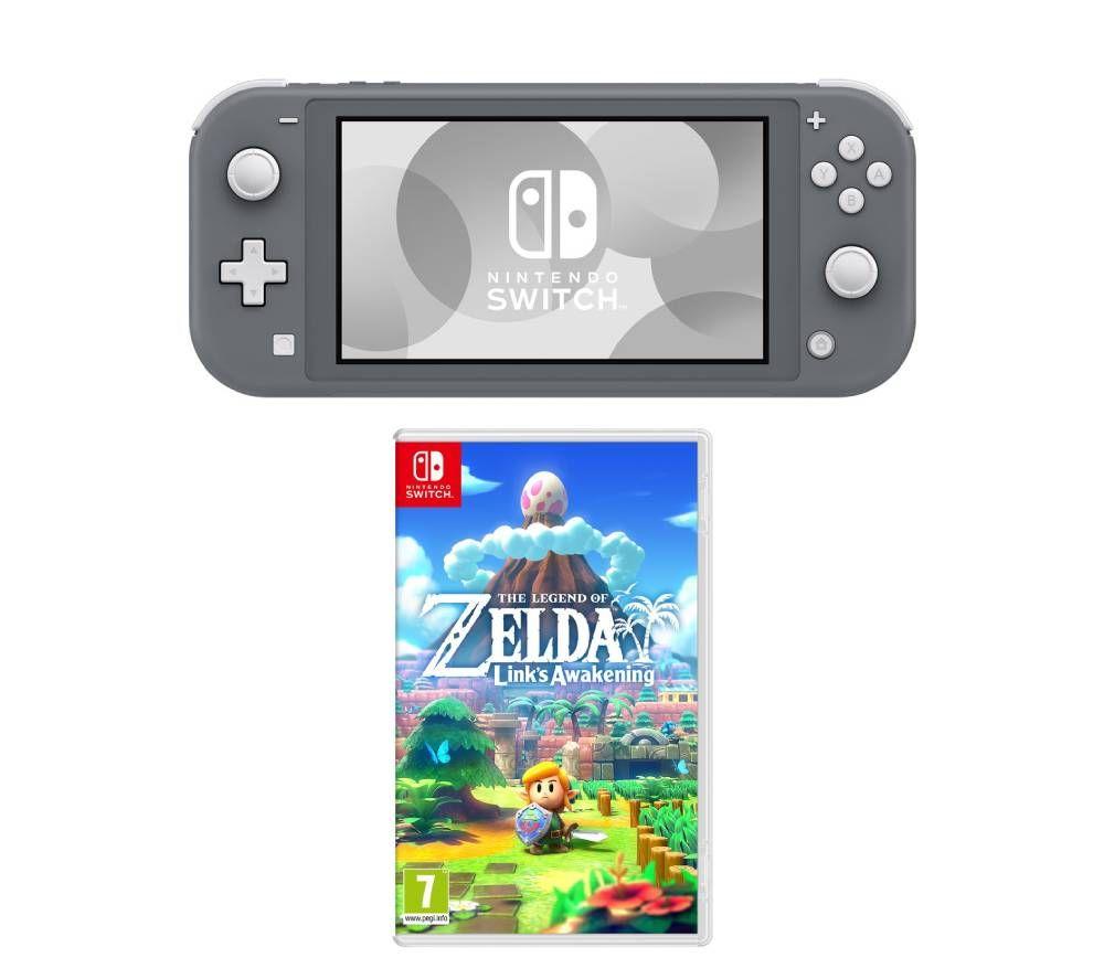 NINTENDO Switch Lite & The Legend of Zelda: Links Awakening Bundle - Grey