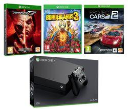 MICROSOFT Xbox One X, Borderlands 3, Tekken 7 & Project Cars 2 Bundle
