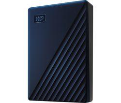 WD My Passport for Mac Portable Hard Drive - 4 TB, Midnight Blue