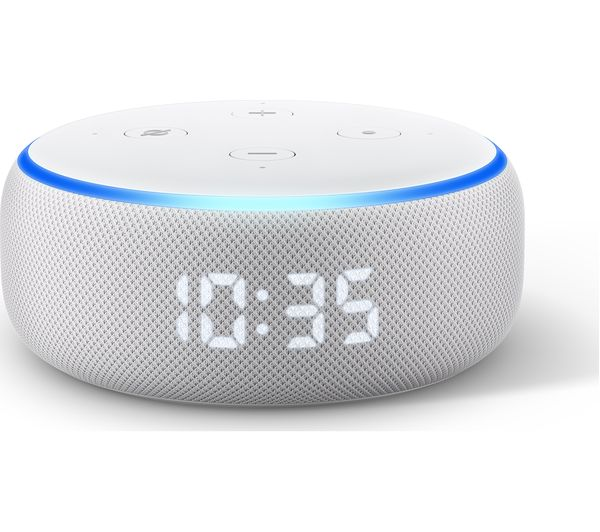 Image of AMAZON Echo Dot with Clock (3rd Generation) - Sandstone