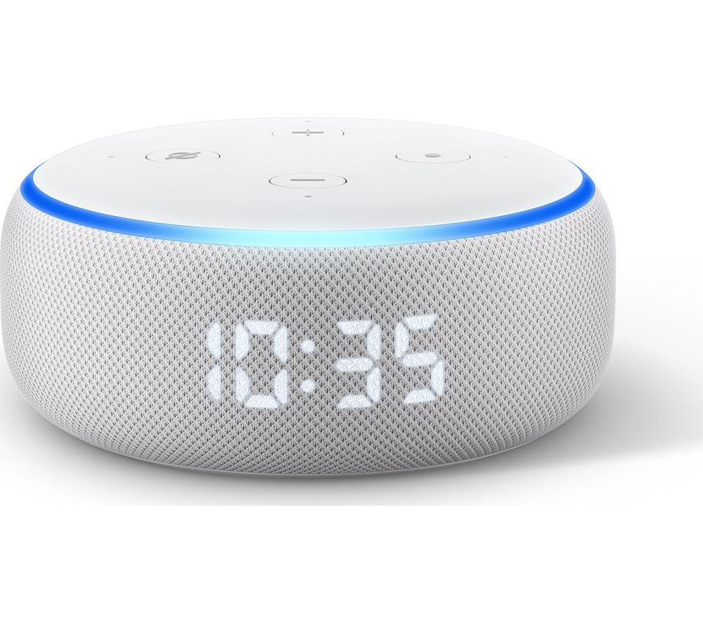 AMAZON Echo Dot with Clock (3rd Generation) - Sandstone