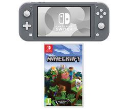Switch Lite & Minecraft Bundle - Grey