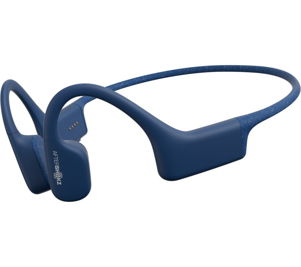 AFTERSHOKZ Xtrainerz Waterproof Sports Headphones - 4GB, Blue