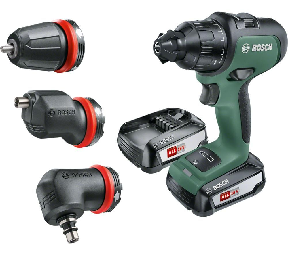 BOSCH AdvancedImpact 18 Cordless Combi Drill with 2 Batteries