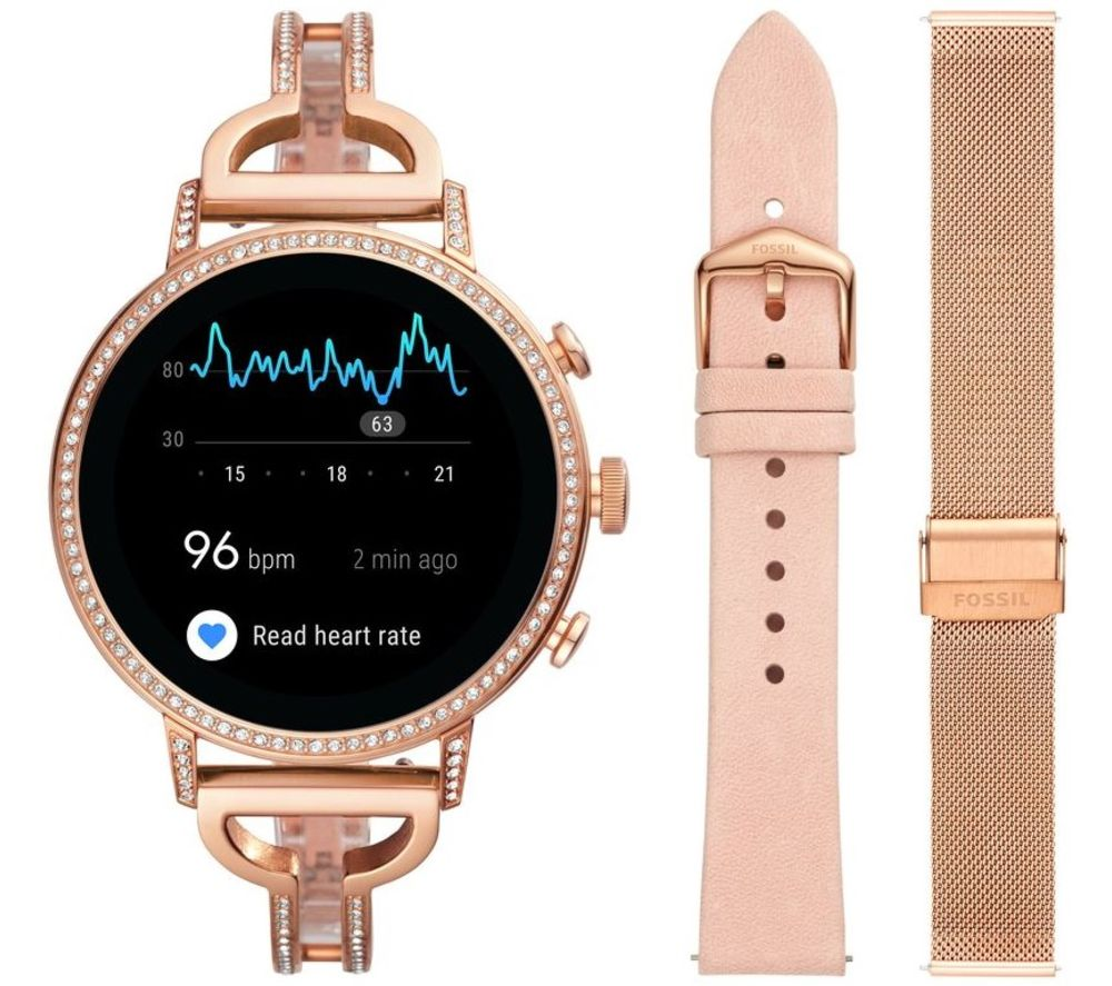 FOSSIL Venture HR FTW6030 Smartwatch Gift Set - Rose Gold
