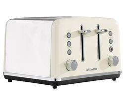 Kensington SDA1585 4-Slice Toaster - Cream