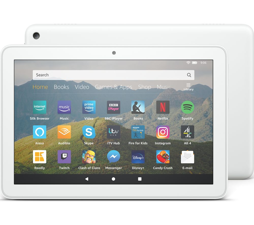 Image of AMAZON Fire HD 8 Tablet (2020) - 64 GB, White, White