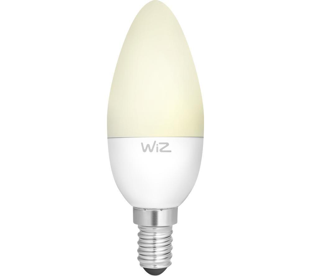 WIZ CONNECTED Smart LED Light Bulb - E14, Warm White, White