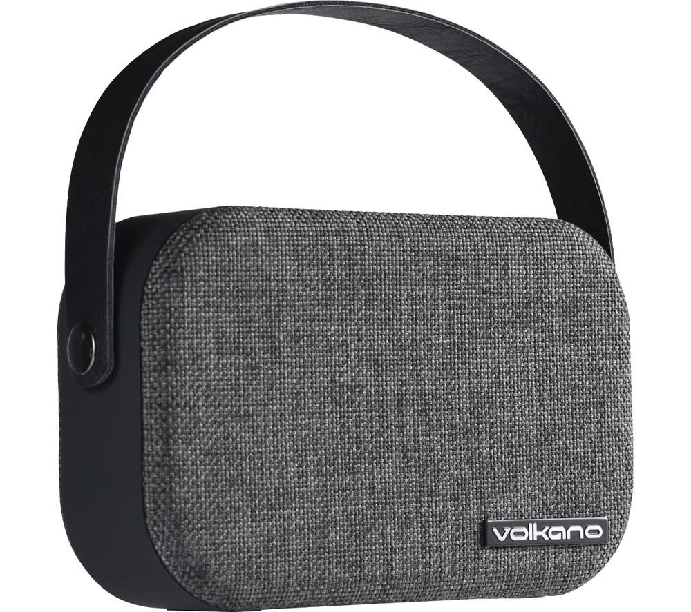 VOLKANO Fabric Series VK-3020-BK Portable Bluetooth Speaker - Grey, Grey