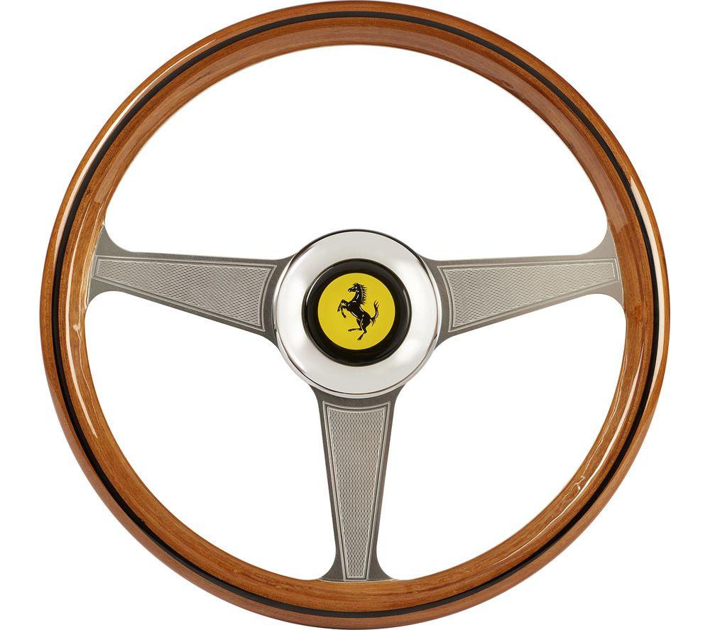 THRUSTMASTER Ferarri 250 GTO Racing Wheel Add-On - Silver & Brown, Silver