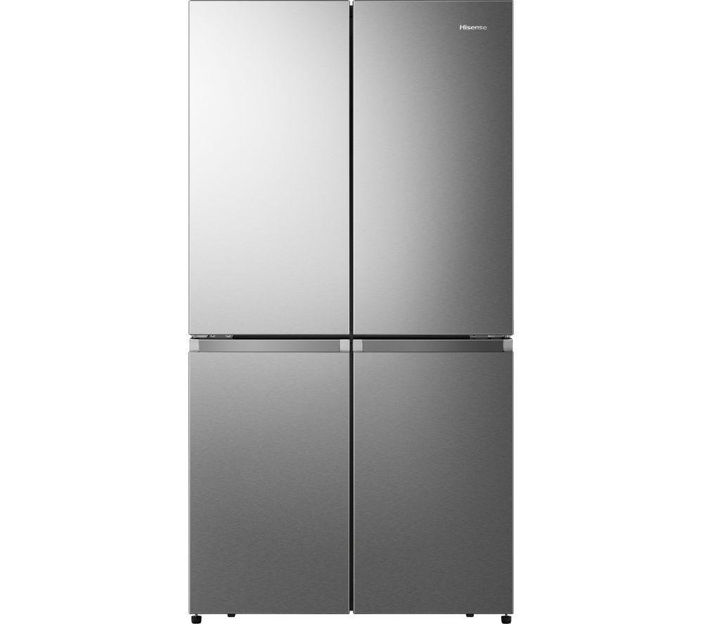 HISENSE PureFlat RQ758N4SAI1 Fridge Freezer - Stainless Steel