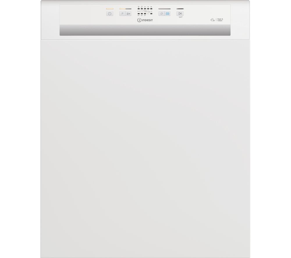 INDESIT DBE 2B19 UK Full-size Semi-Integrated Dishwasher - White