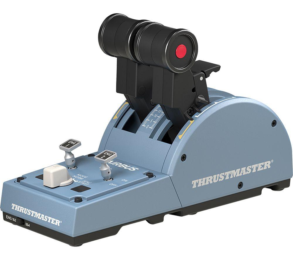 THRUSTMASTER TCA Airbus Edition Throttle Quadrant Flight Controller - Black & Blue
