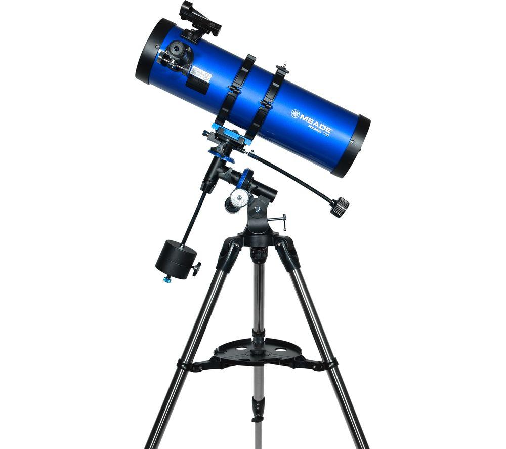 MEADE Polaris 130 Reflector Telescope - Blue, Blue