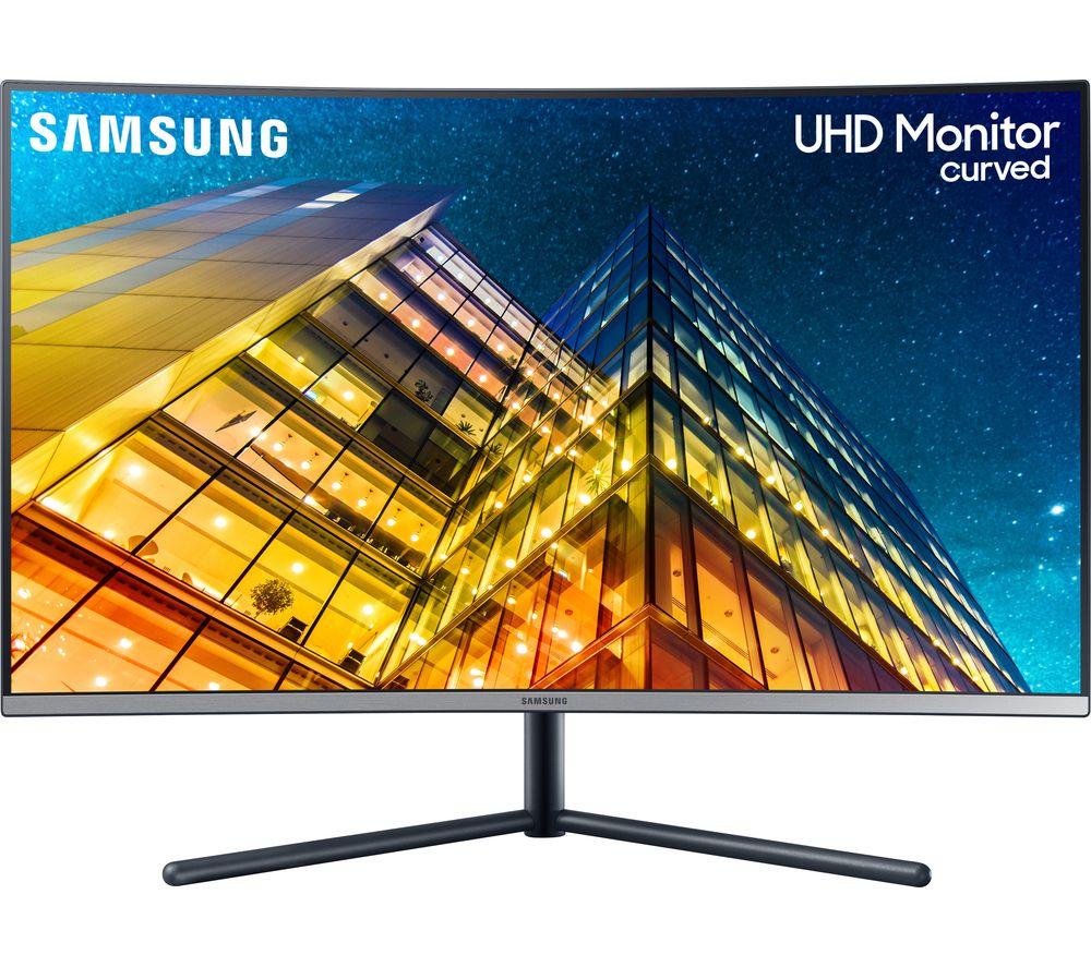 "SAMSUNG LU32R590CWRXXU 4K Ultra HD 32"" Curved LED Monitor - Black"