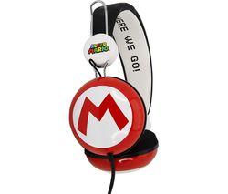 SM0654 Super Mario Kids Headphones - Red & Black
