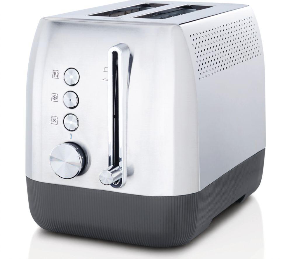 BREVILLE Edge VTT981 2-Slice Toaster - Brushed Stainless Steel