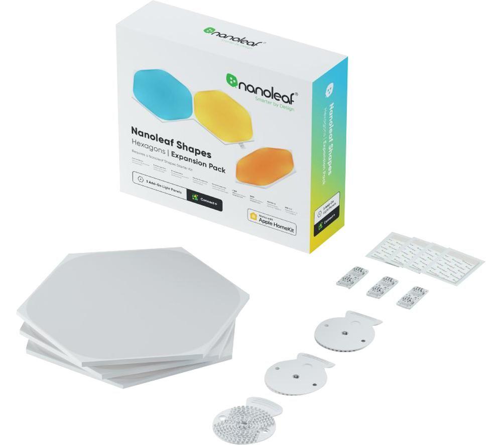 NANOLEAF Shapes Hexagon Smart Lights Expansion Kit - Pack of 3