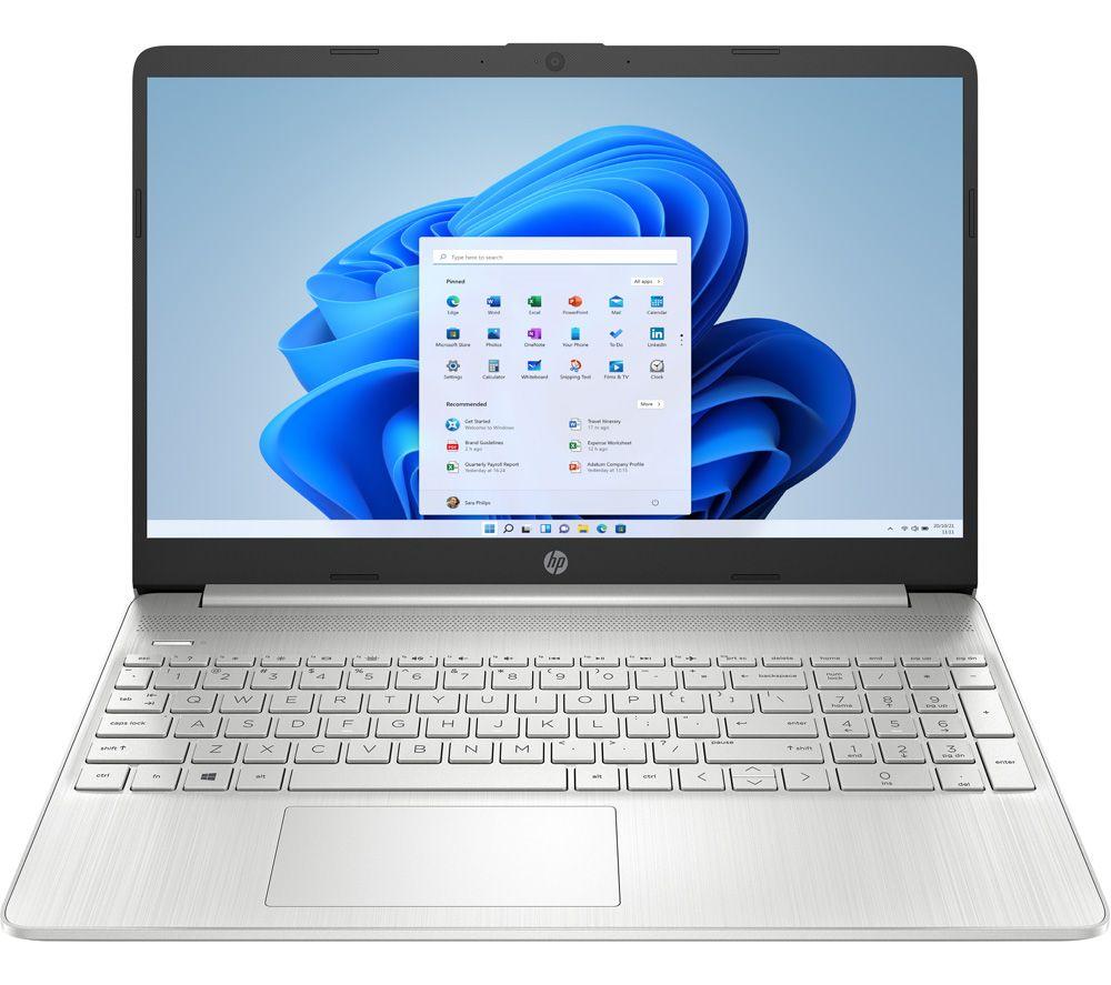 """HP 15s-eq1542sa 15.6"""" Laptop - AMD 3020e, 128 GB SSD, Silver"""